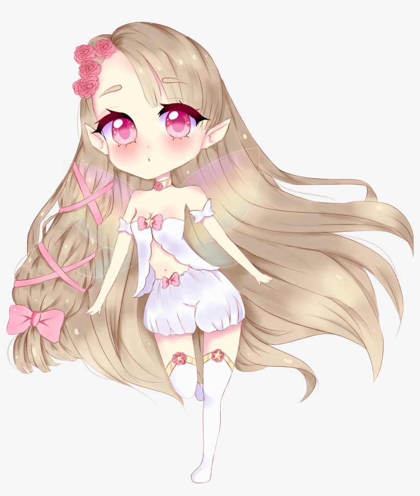 I Will Draw Anything In Cute Anime Chibi Style - Cutesy Anime Girl Transparent Background, transparent png #8489023
