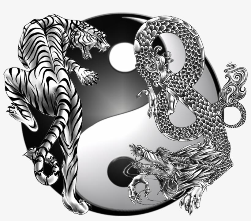 Dragon Society International Chinese Symbol Yin Yang - Yin Yang Dragon Png, transparent png #8490912