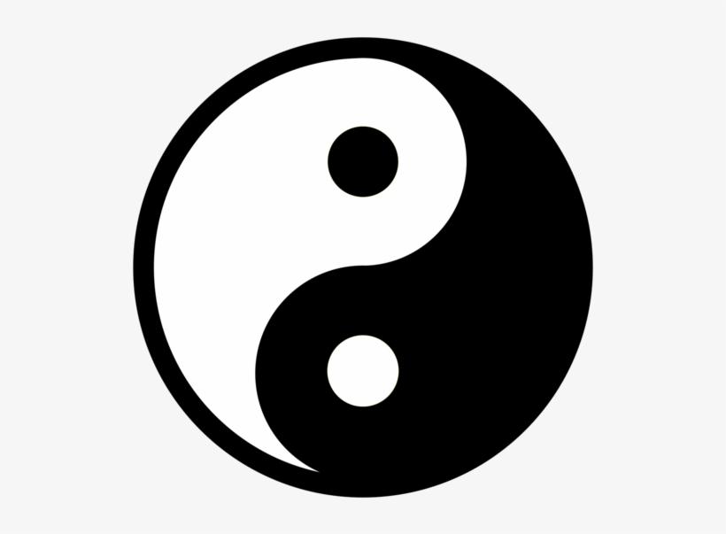 Yin And Yang Symbol Taijitu Black And White Poster - Simbolo De Yin Y Yan, transparent png #8490988