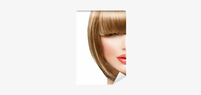 Beauty Girl With Short Hair Wall Mural • Pixers® • - Short Hair, transparent png #850108