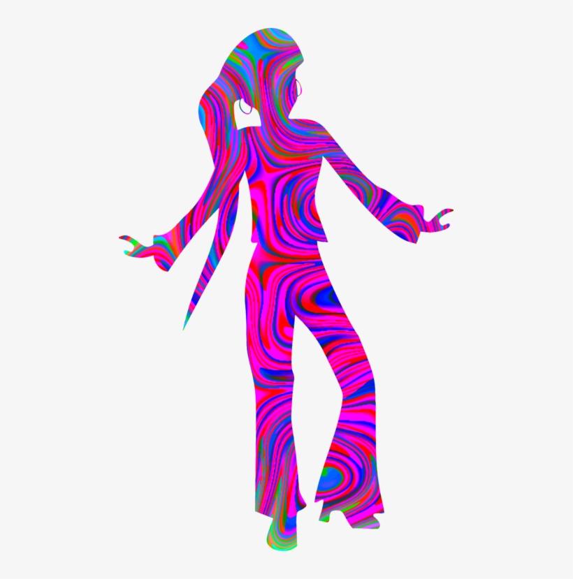 Disco Dance Silhouette Robot Art - Delta Sigma Theta Swag Top - Women's Tank Top, transparent png #850466