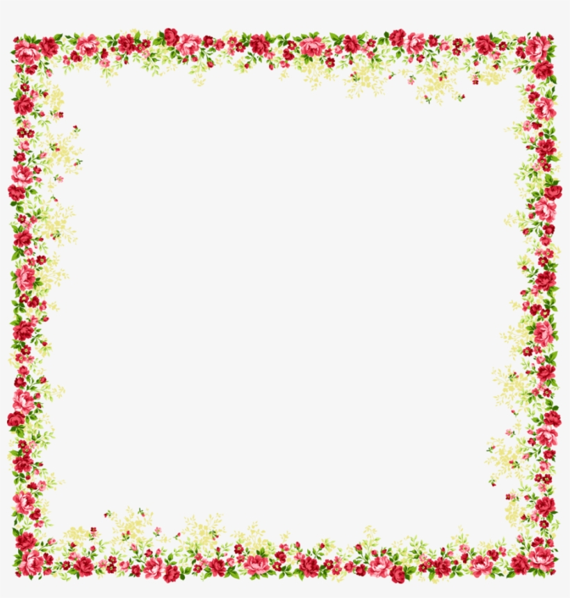 Flower And Butterfly Border Design Images Png Images - Flower Page Border Design, transparent png #850777