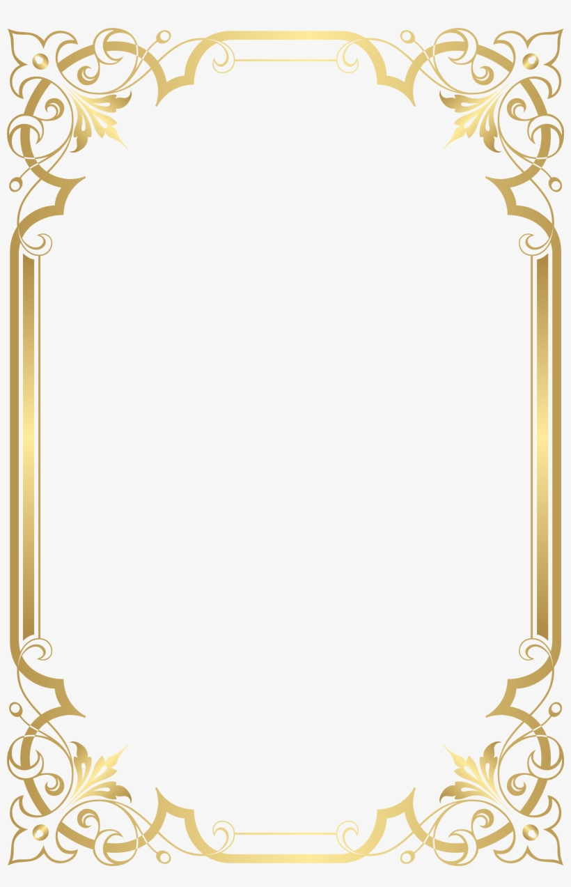 Image Border, Borders For Paper, Borders And Frames, - Gold Border Frame Png, transparent png #850804