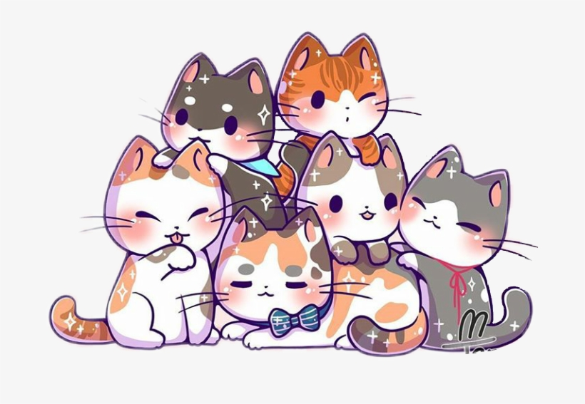 Report Abuse - Kawaii Cute Cat Kitten, transparent png #852753