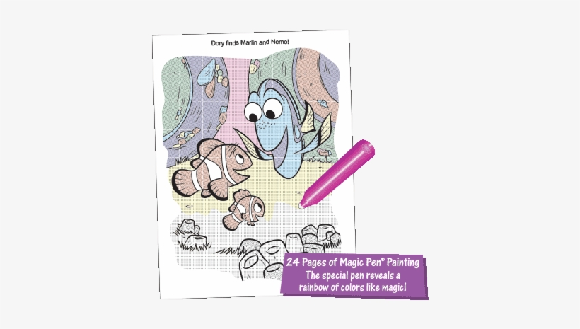 Magic Pen® Painting - Disney Pixar Finding Dory Color And Play Coloring Book, transparent png #853003