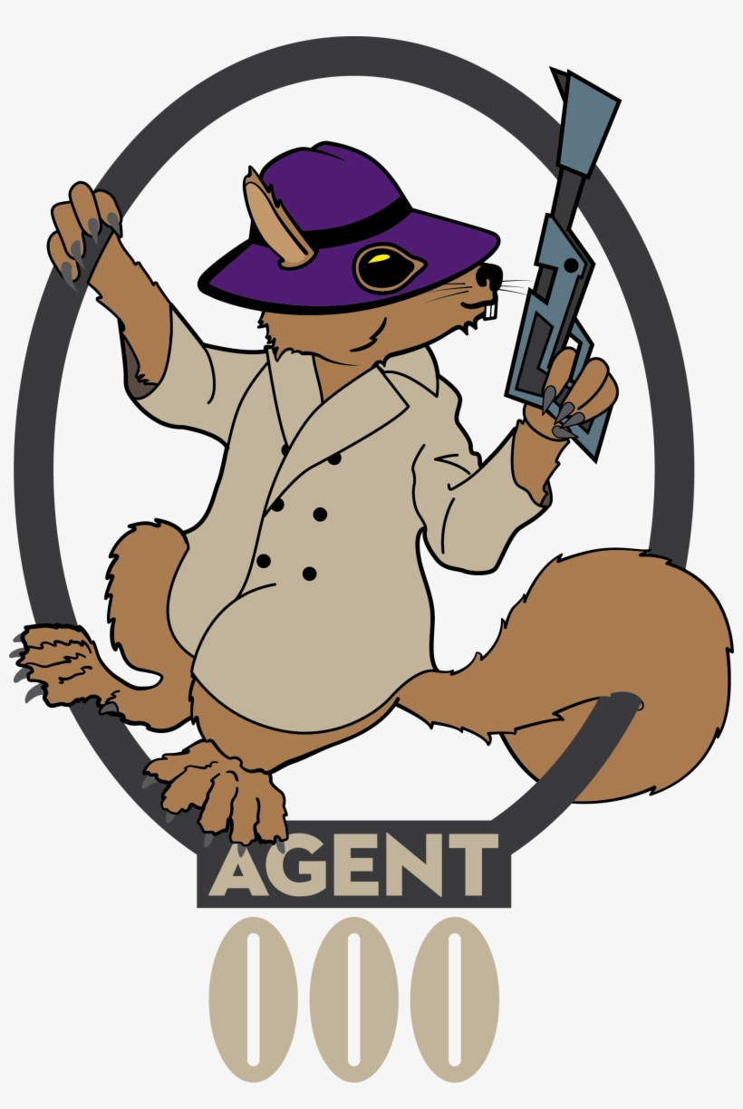 Secret Vector Shh - Secret Agent Squirrel, transparent png #854539