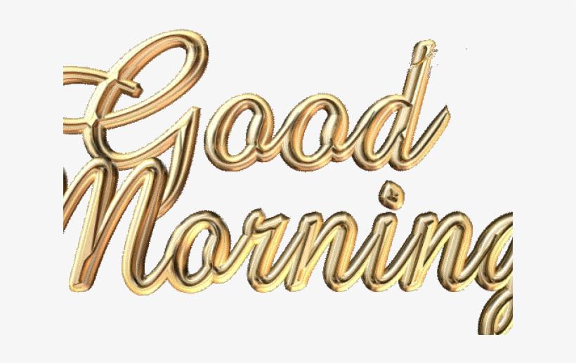 Good Morning Png Transparent Images - Good Morning Words, transparent png #855925