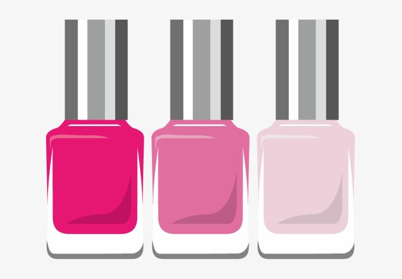 Jpg Vector Png - Pink Nail Polish Clip Art, transparent png #856032