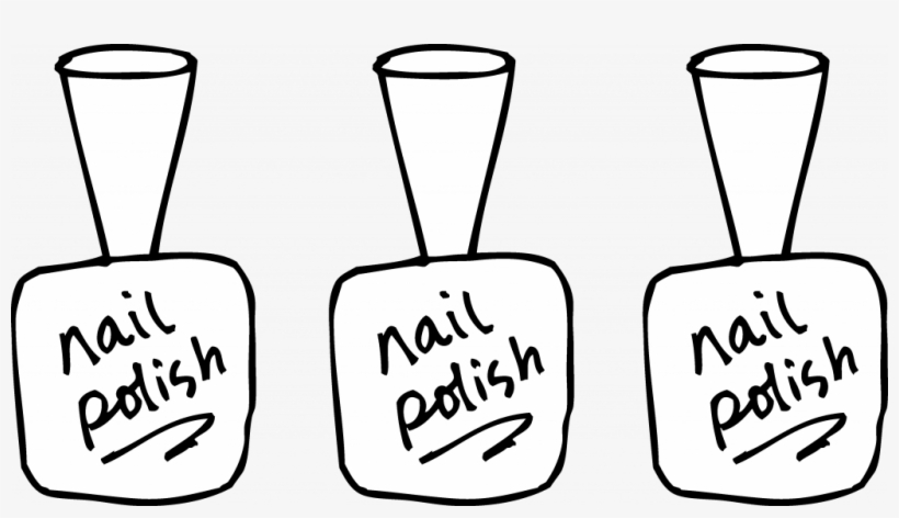 Unique Nail Polish Coloring Page Free Clip - Nail Polish For Coloring, transparent png #856778