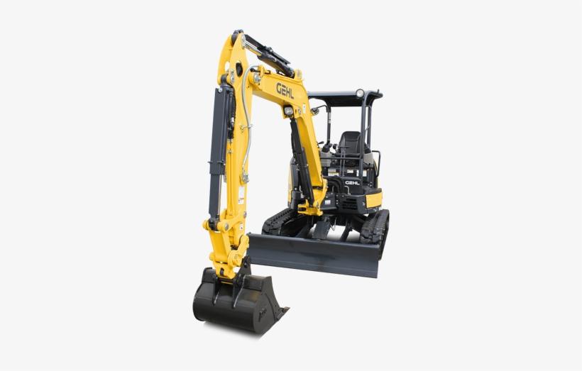 2 Compact Excavator - Gehl Z45 Gen 2, transparent png #856813