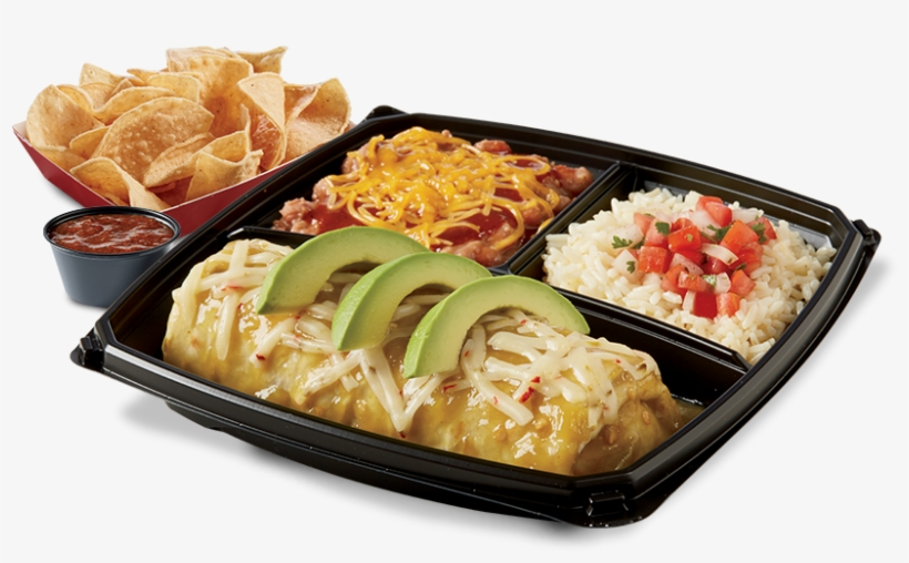 Chicken Verde Wet Burrito Plato - Wet Burrito Del Taco, transparent png #8504631