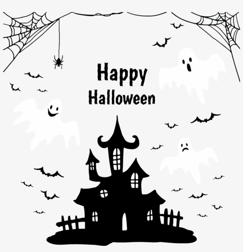 Free Png Download Customize Your Own Holiday Banner - Happy Halloween Png Preto, transparent png #8513613