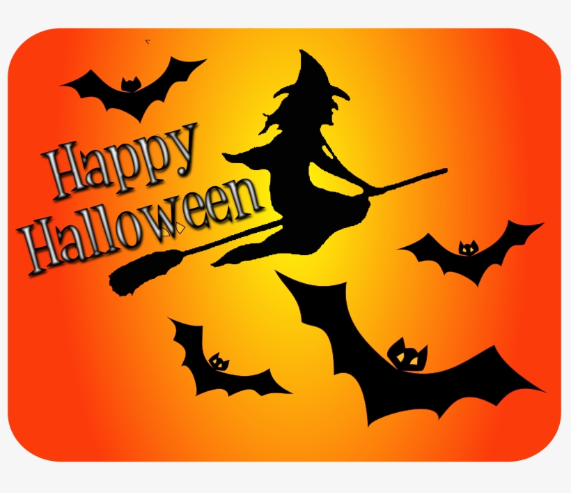 This Png File Is About Remix 287029 , Witch , Happy - Halloween Bats Png, transparent png #8513655
