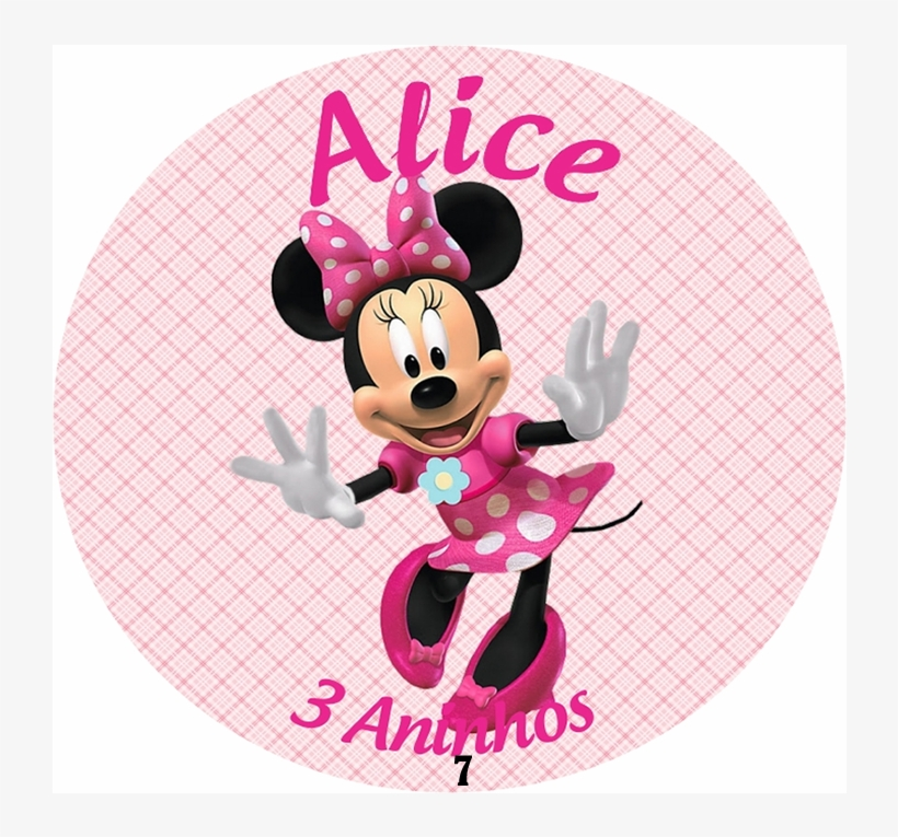 50 Adesivos Personalizados Minnie Rosa - Mickey Mouse Clubhouse Meeska Mooska Mickey Mouse, transparent png #8515932