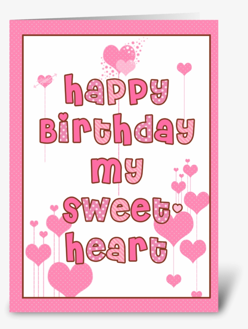 Happy Birthday Sweetheart Beloved Birthday Card Free Transparent