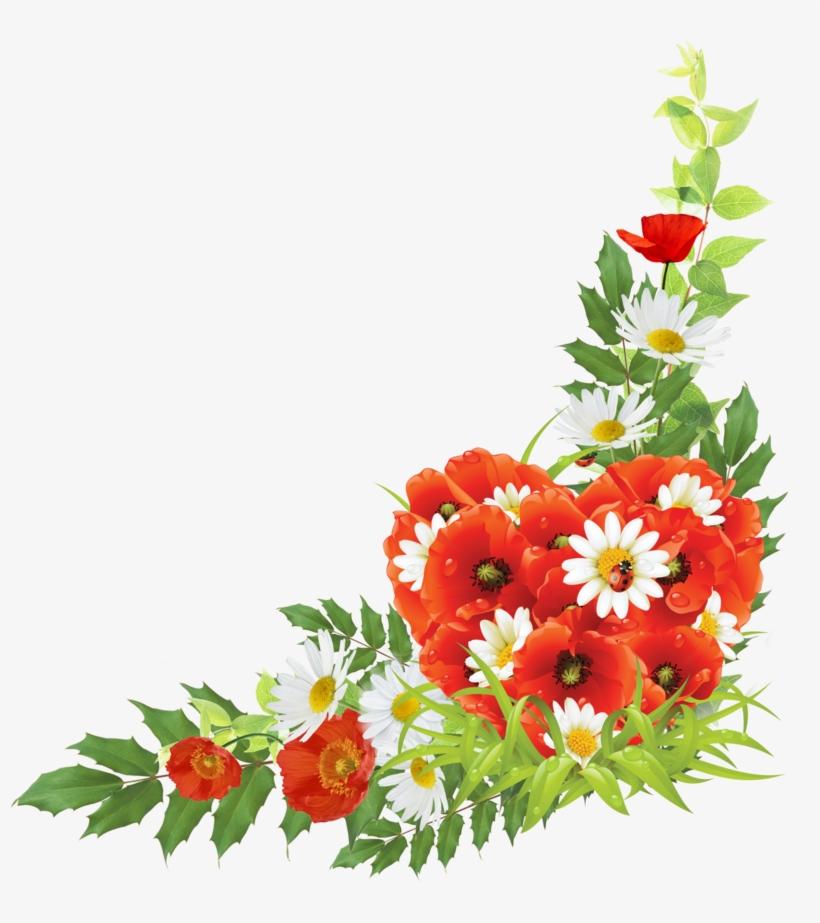 Corner Android Flowers Free Frame - Corner Flower Design Png, transparent png #8540873