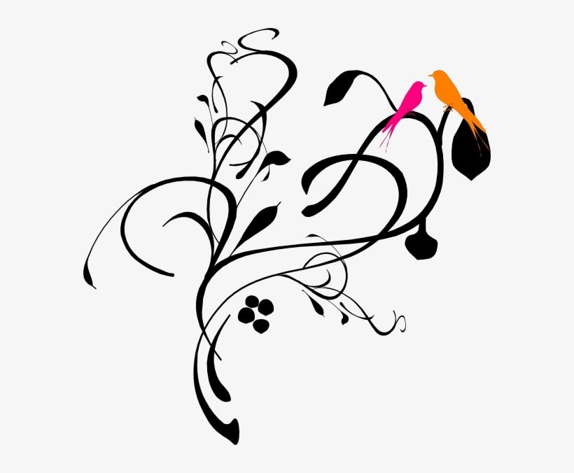Wedding Border Design Png Black & White Clipart , Png - Vines Clip Art, transparent png #8540982