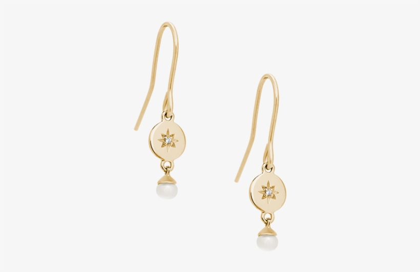 Diamond Voyager Pearl Earring Set Diamond Voyager Pearl - Earrings, transparent png #8541632