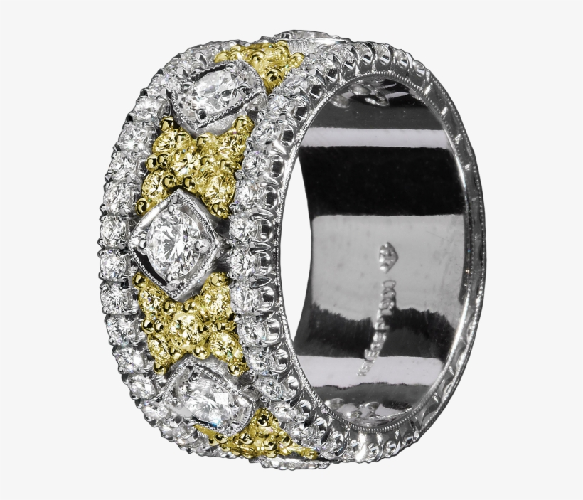 Kpbd 765-1 Platinum And Gold Band - Engagement Ring, transparent png #8542918