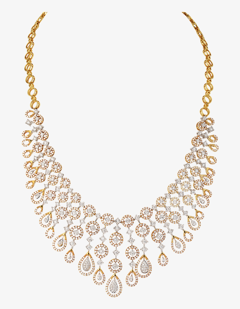 Well With Traditional Attires While Trendy And Sleek Diamond Necklace Jewellery Designs Free Transparent Png Download Pngkey