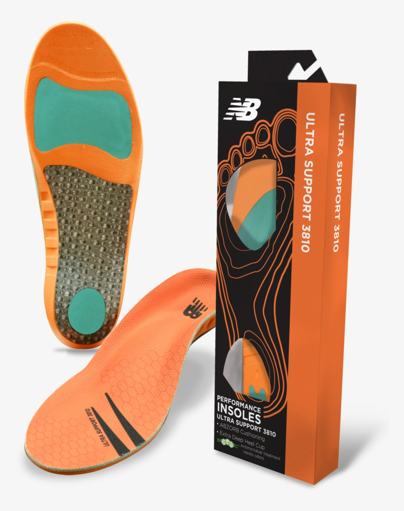 New Balance Ultra Support 3810 Insoles - New Balance 1100 Insole, transparent png #8573051