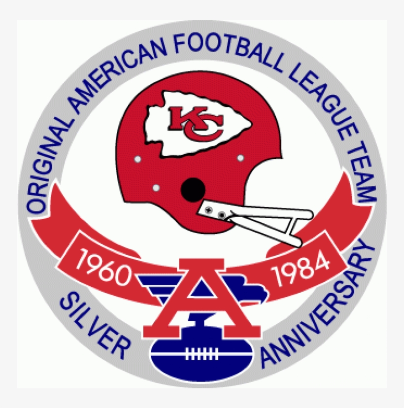 Kansas City Chiefs Iron On Stickers And Peel-off Decals - Denver Broncos Anniversary Logo, transparent png #8575832