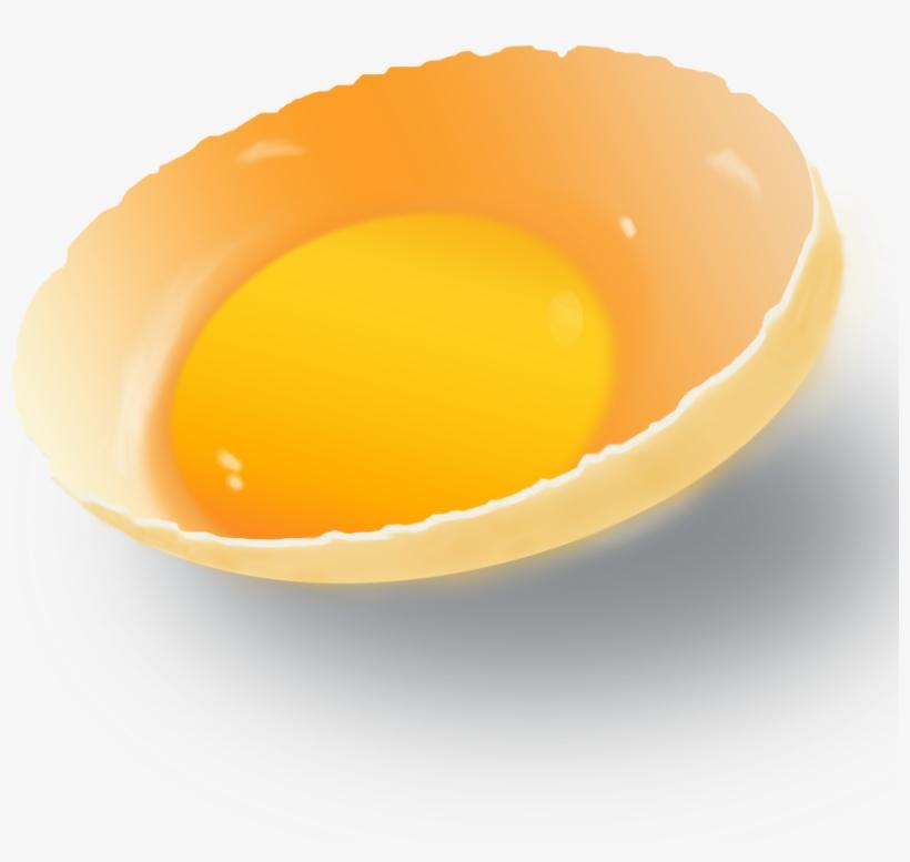 Broken Egg Yolk - Fried Egg, transparent png #8582895