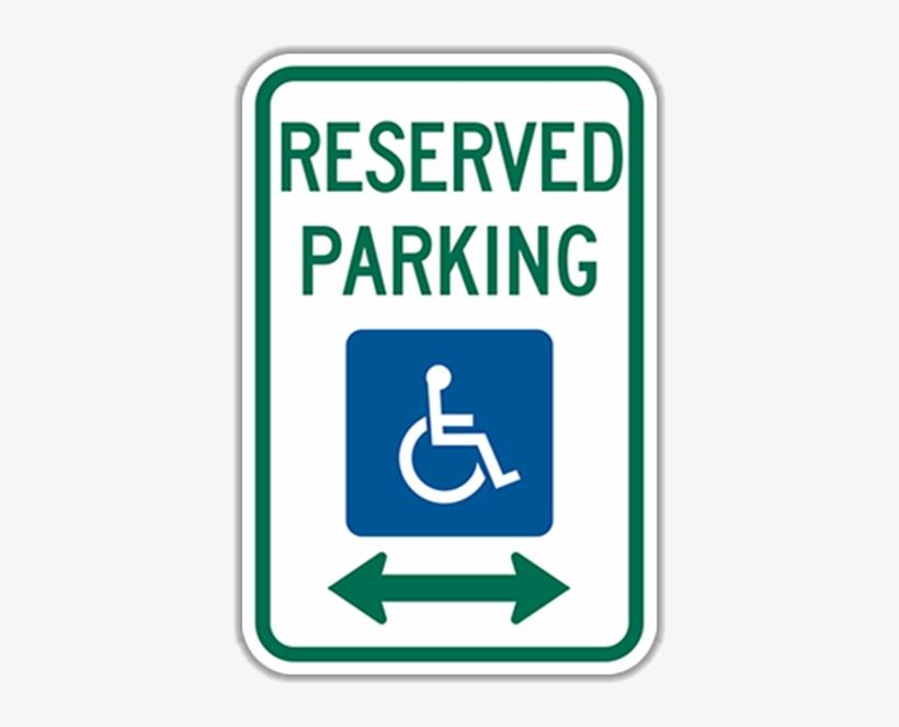 Larger Photo - Handicap Parking Sign, transparent png #8584012