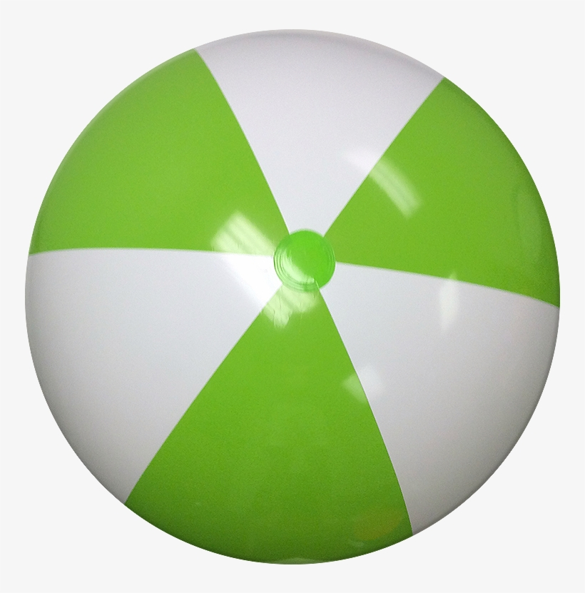 Largest Selection Of Beach Balls With Fast Delivery - Green And White Beach Ball, transparent png #8587667