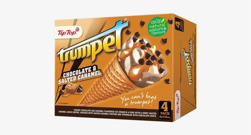 Salted Caramel 4 Multipack - Trumpet Ice Cream, transparent png #8590887