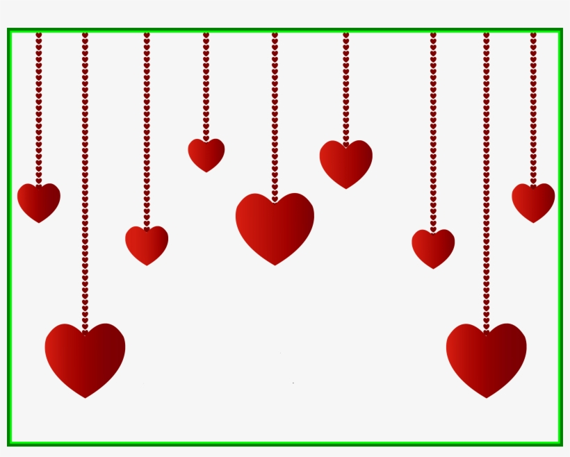 Clip Art Black And White Stock Awesome Hearts Decoration - Valentines Day Hearts Png Transparent, transparent png #8591914