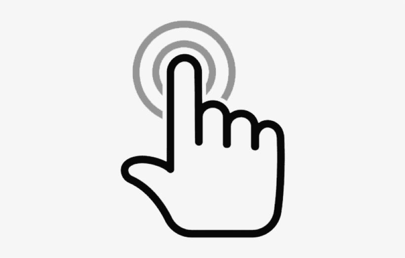 Mouse Cursor Click Clipart Hand Cursor - Click Png, transparent png #860367