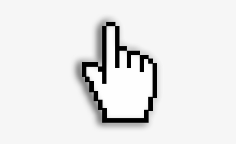 Mouse Cursor Png Clipart Stock - Pixel Cursor, transparent png #860400