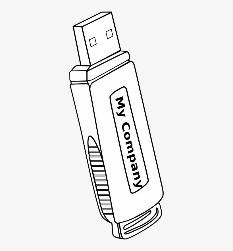 Pen Drive For Coloring, transparent png #860840