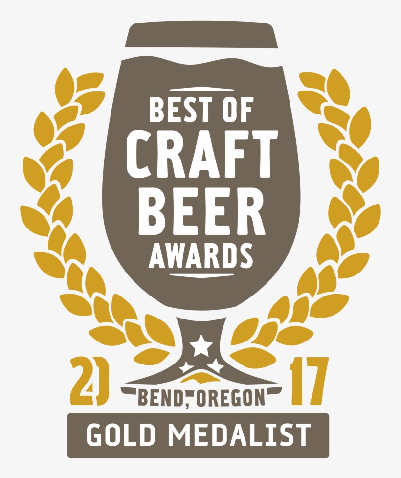 2017 Best Of Craft Beer Awards Gold Logo - Resurgence Brewing Company, transparent png #865237
