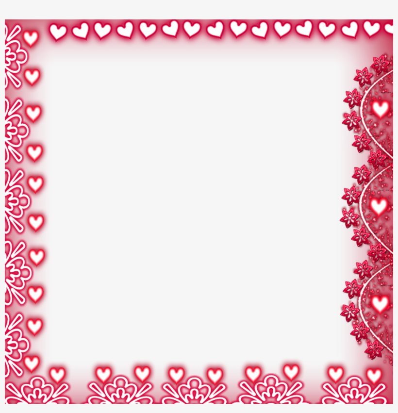 Posted By Amazing Effectz N Frames At - Heart Border Frame Png, transparent png #865666