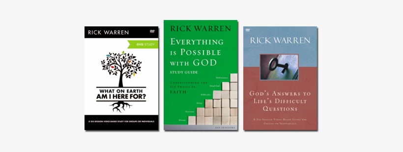 3 Studies From Rick Warren Earth Am I Here For Study Guide The