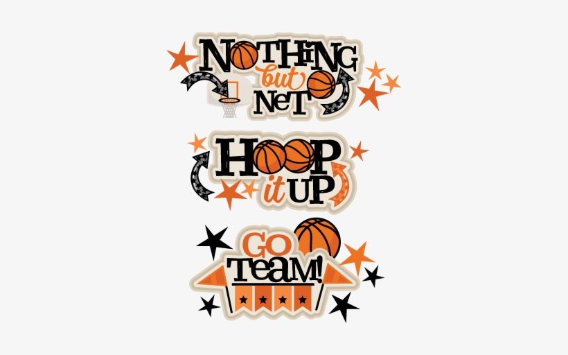 Titles Scrapbook Cut File Cute Clipart Files - Basketball Design For Scrapbook, transparent png #866805
