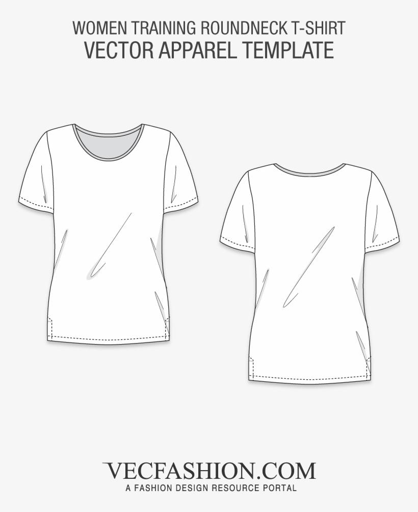 Women Training Roundneck T-shirt - Womens Tank Top Vector Template, transparent png #867258
