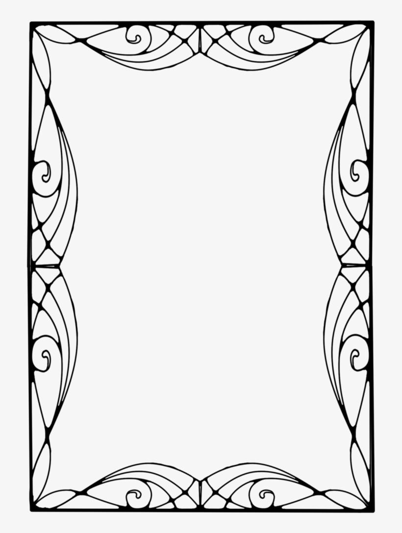 art deco frame png art deco clipart craft projects - vector art nouveau frame