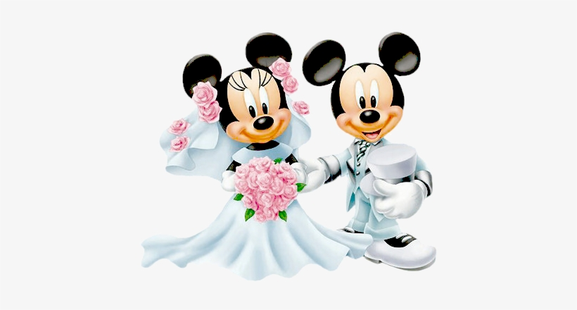 Bride Groom Minnie Mickey More - Mickey Mouse Minnie Mouse Wedding, transparent png #868868