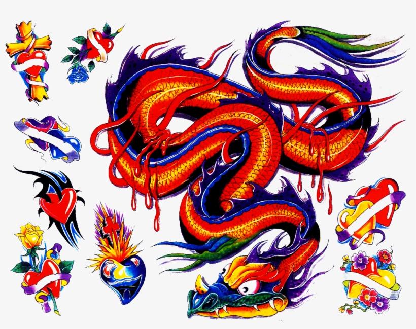 Colored Tattoo Shape Mojo - Tattoo, transparent png #869182