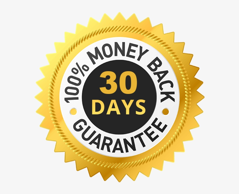 We Back All Of Our Orders With A 100% Money Back Guarantee - 30day Money Back Guarantee, transparent png #8600767