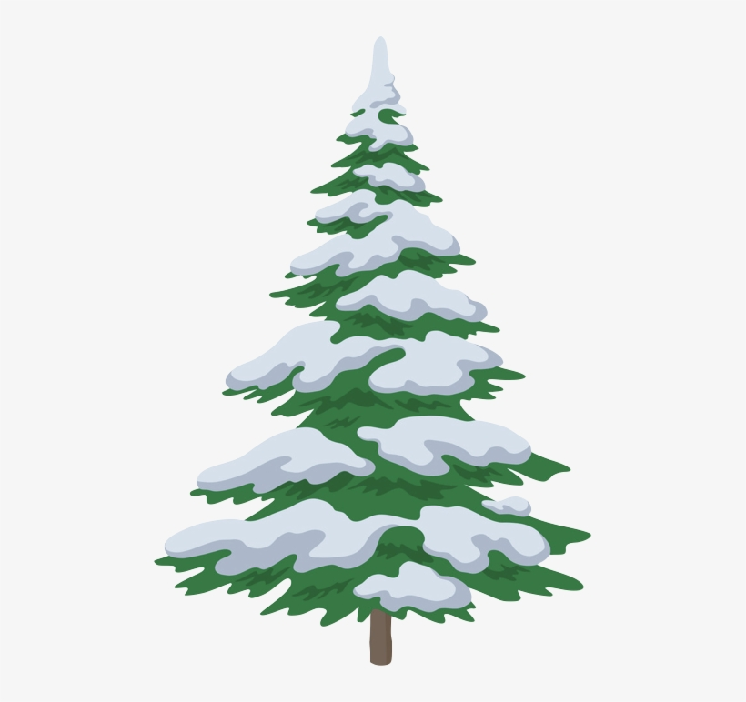 2 / - Christmas Tree Drawing With Snow, transparent png #8604710