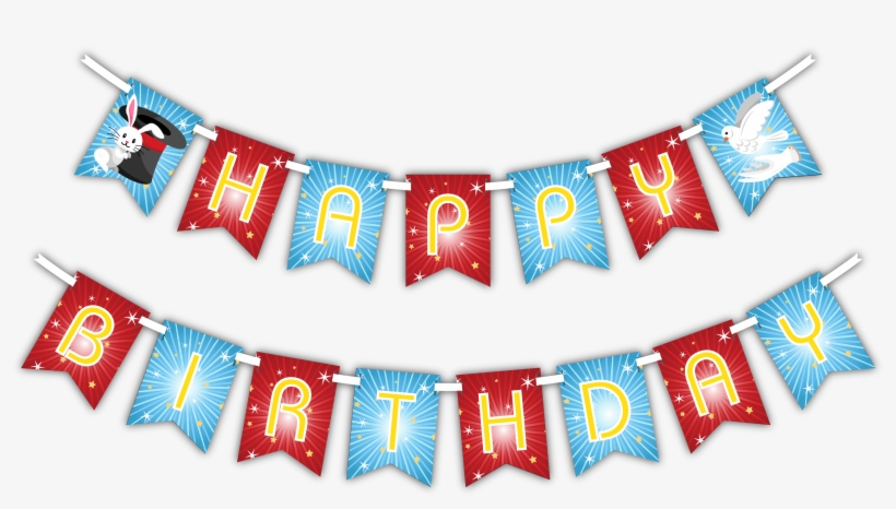 Magic Show Happy Birthday Party Banner Happy Birthday