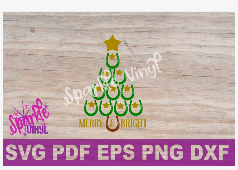 Svg Christmas Cowboy Cowgirl Christmas Horseshoe Tree - Christmas Tree, transparent png #8620971