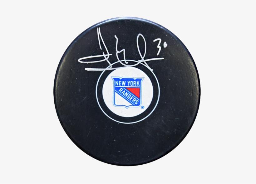 Henrik Lundqvist Signed New York Rangers Hockey Puck - New York Rangers, transparent png #8623836