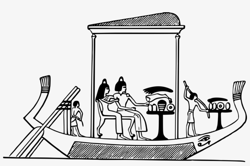 All Photo Png Clipart - Ancient Egypt Boat Drawing, transparent png #8624818