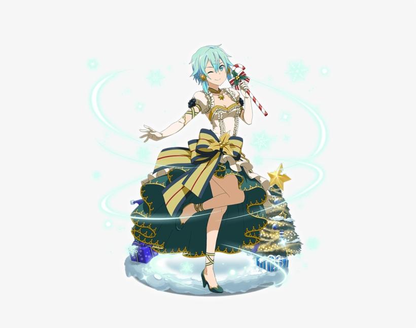 Sinon - Merry Christmas Draw Of Anime Christmas Girl, transparent png #8629274