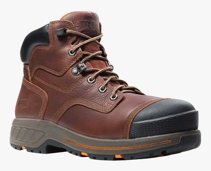 """Brown Boot - Timberland Pro Men's Helix Hd 6"""" Composite Toe Work, transparent png #8632923"""